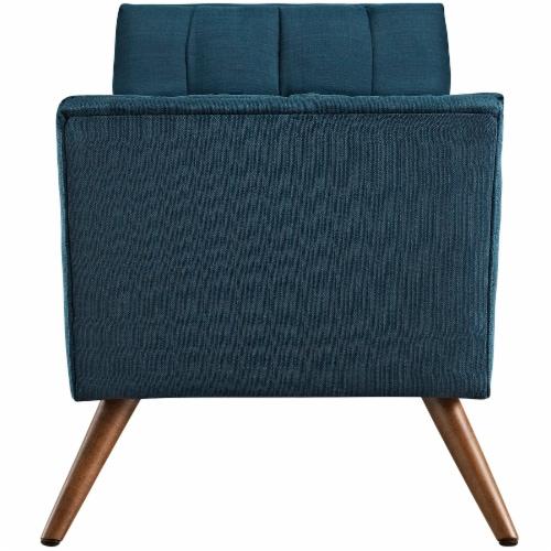 Response Medium Upholstered Fabric Bench - Azure Perspective: back