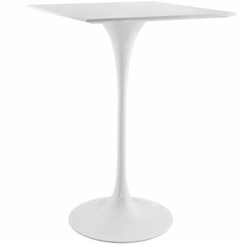 """Lippa 28"""" Square Wood Top Bar Table - White Perspective: back"""