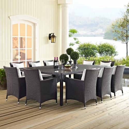 "Convene 90"" Outdoor Patio Dining Table - Espresso Perspective: back"