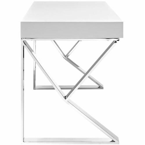 Adjacent Desk - White Perspective: back