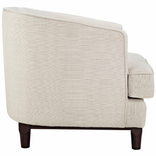 Coast Upholstered Fabric Armchair - Beige Perspective: back