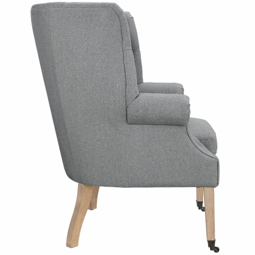 Chart Upholstered Fabric Lounge Chair Perspective: back