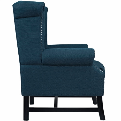 Steer Upholstered Fabric Armchair - Azure Perspective: back