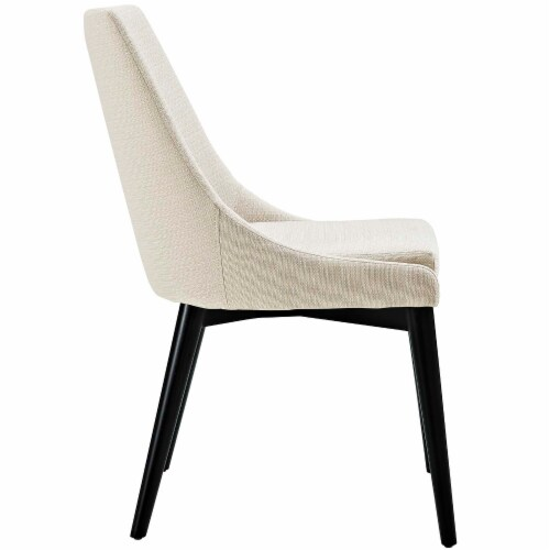 Viscount Fabric Dining Chair - Beige Perspective: back
