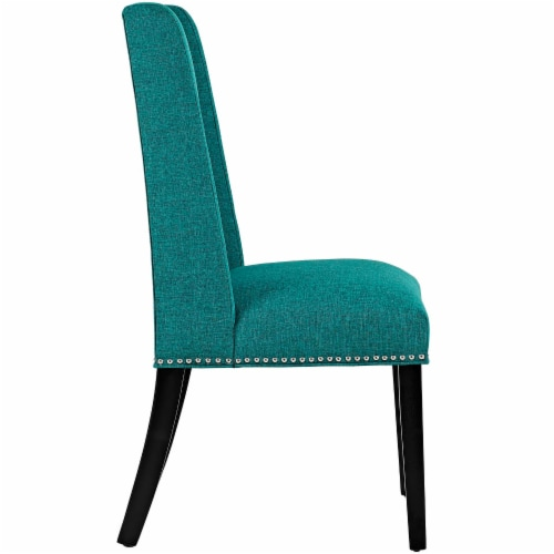 Baron Fabric Dining Chair - Teal Perspective: back