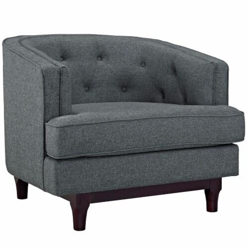 Coast Living Room Set Set of 3 - Gray Perspective: back