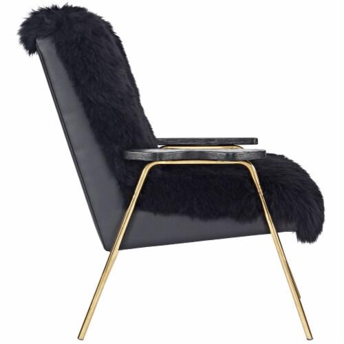 Sprint Sheepskin Armchair - Black Black Perspective: back