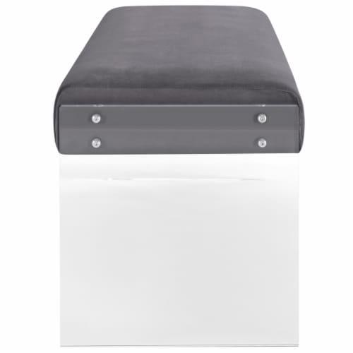 Roam Velvet Bench Perspective: back