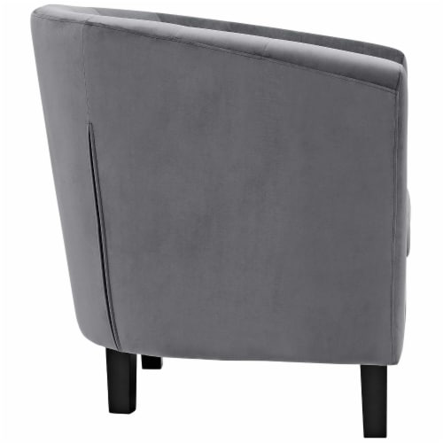 Prospect Velvet Armchair - Gray Perspective: back
