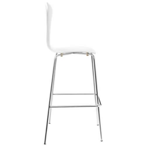Passage Dining Bar Stool, White Perspective: back