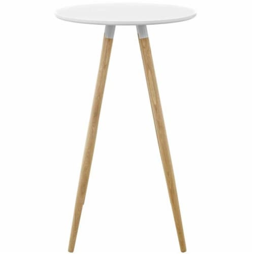 Track Round Bar Table - Whiite Perspective: back