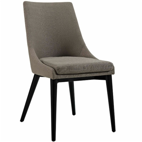 Viscount Dining Side Chair Fabric Set of 2 - Granite Perspective: back