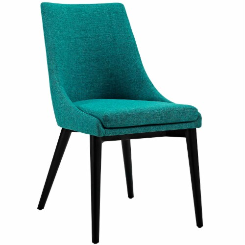 Viscount Dining Side Chair Fabric Set of 2 - Teal Perspective: back