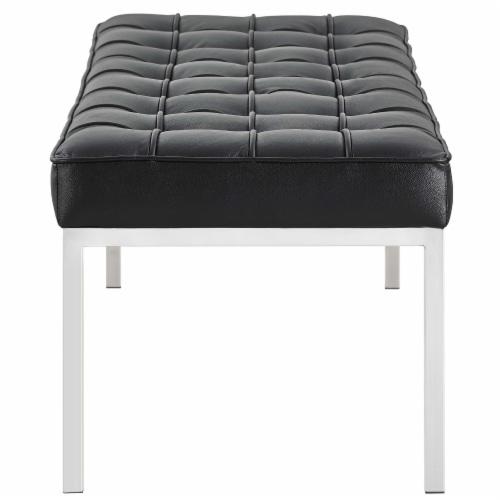 Loft Leather Bench - Black Perspective: back