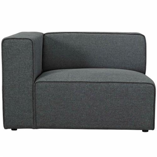 Mingle Fabric Left-Facing Sofa - Gray Perspective: back