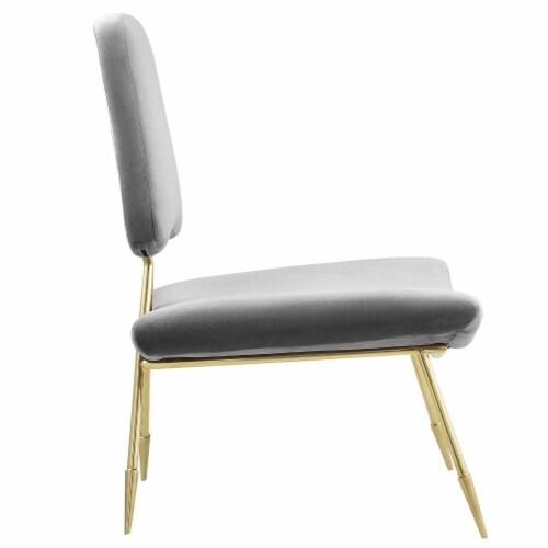 Ponder Upholstered Velvet Lounge Chair, EEI-2809-GRY Perspective: back
