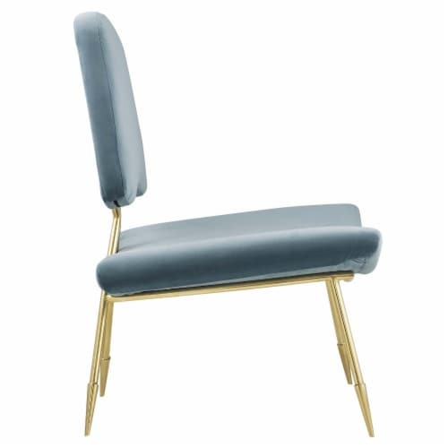 Ponder Upholstered Velvet Lounge Chair, EEI-2809-SEA Perspective: back