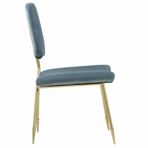 Ponder Upholstered Velvet Accent Chair Perspective: back