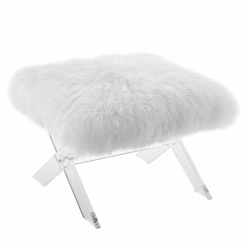 Swift Sheepskin Bench - Clear White Perspective: back