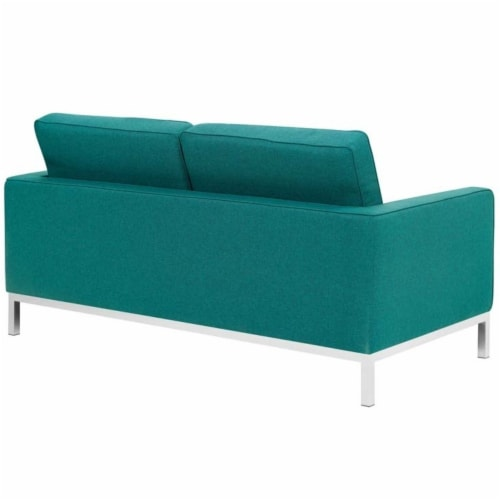 Loft Upholstered Fabric Loveseat Perspective: back