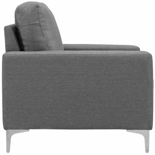 Allure Upholstered Armchair - Gray Perspective: back