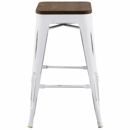 Modway Promenade 26  Counter Stool in White Perspective: back