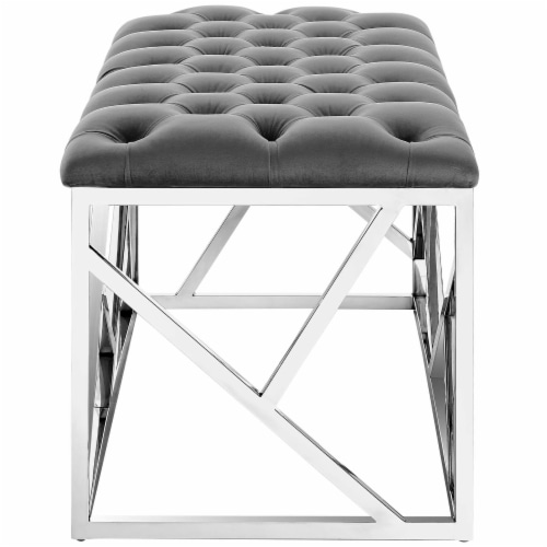 Intersperse Bench - Silver Gray Perspective: back