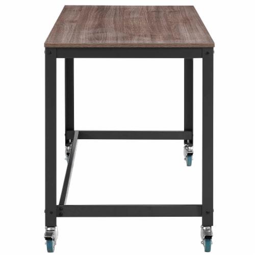 Vivify Computer Office Desk - Gray Walnut Perspective: back
