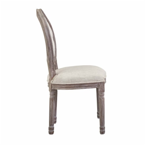 Arise Vintage French Upholstered Fabric Dining Side Chair - Beige Perspective: back