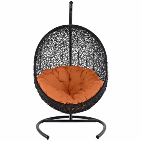 Encase Swing Outdoor Patio Lounge Chair - Orange Perspective: back