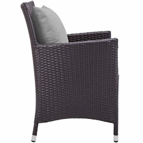 Convene Dining Outdoor Patio Armchair - Espresso Gray Perspective: back