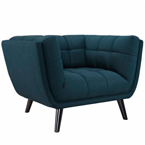 Bestow 2 Piece Upholstered Fabric Loveseat and Armchair Set - Blue Perspective: back