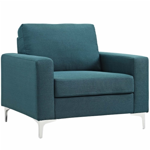 Allure 3 Piece Sofa and Armchair Set - Blue Perspective: back