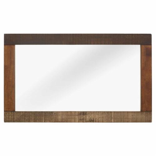 Arwen Rustic Wood Frame Mirror - Walnut Perspective: back