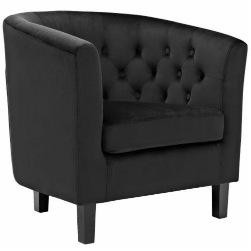 Prospect 2 Piece Velvet Armchair Set - Black Perspective: back