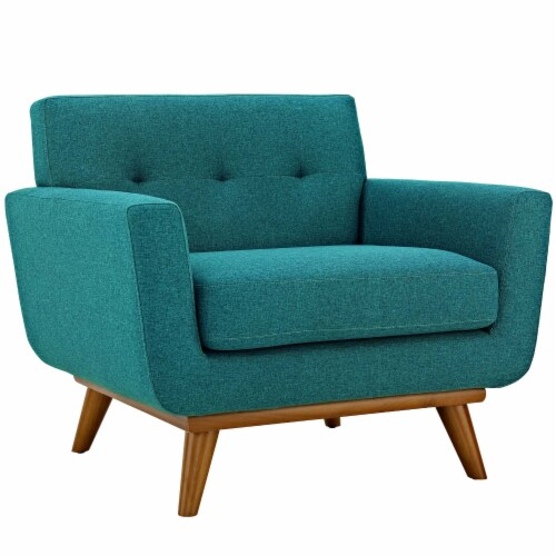 Engage Sofa Loveseat and Armchair Set of 3 - Teal Perspective: back