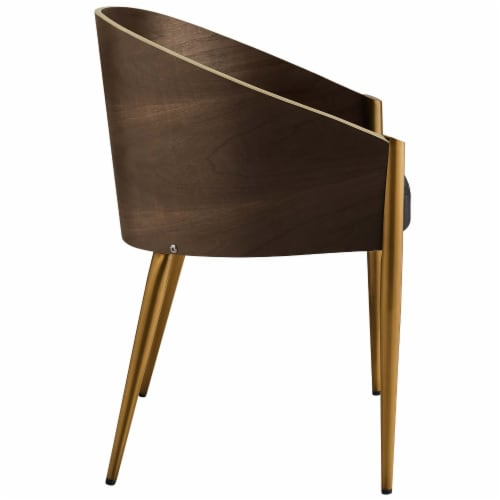 Cooper Faux Leather Dining Armchair - Gold Perspective: back
