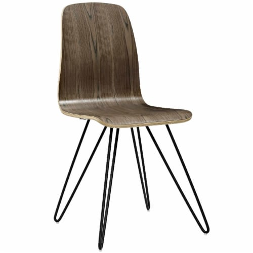 Drift Dining Side Chair Set of 2 - Walnut Perspective: back