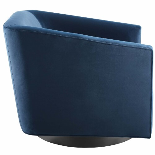 Twist Accent Lounge Performance Velvet Swivel Chair Perspective: back