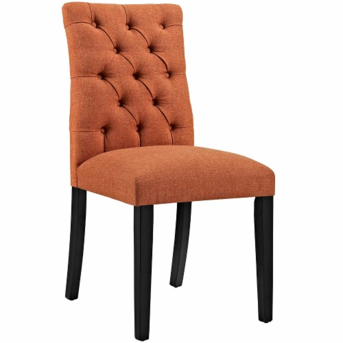 Duchess Dining Chair Fabric Set of 2 - Orange Perspective: back