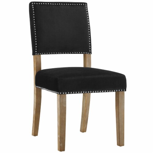 Oblige Dining Chair Wood Set of 2 - Black Perspective: back