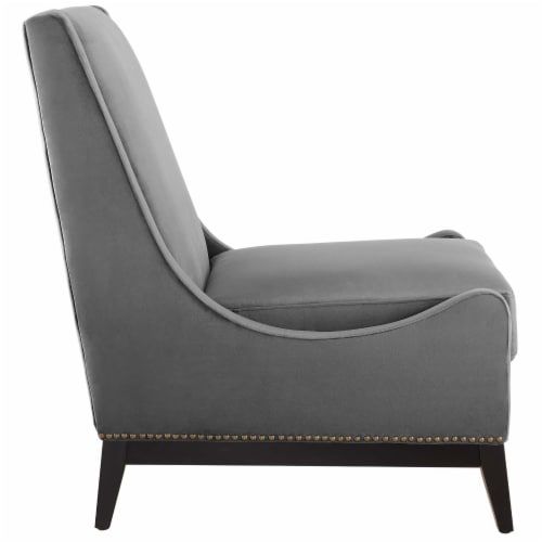 Confident Accent Upholstered Performance Velvet Lounge Chair Perspective: back