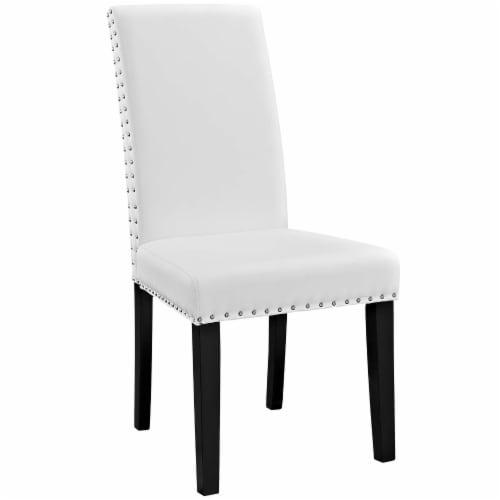 Parcel Dining Side Chair Vinyl Set of 2 - White Perspective: back
