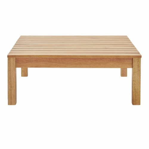 Freeport Outdoor Patio Patio Coffee Table Natural Perspective: back