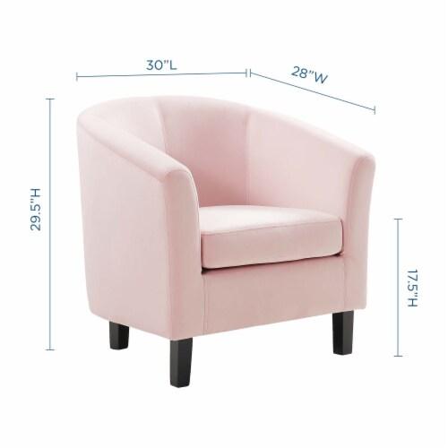 Prospect Performance Velvet Armchair Pink Perspective: back