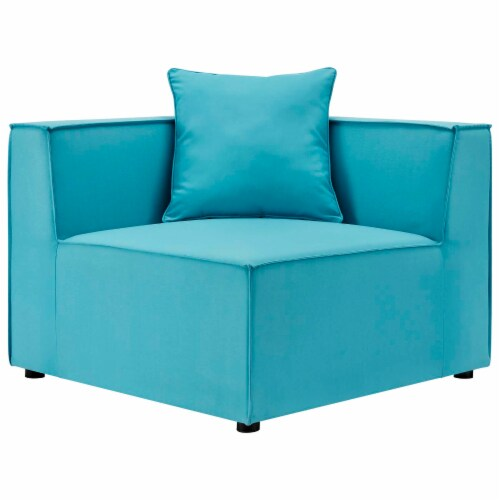 Saybrook Outdoor Patio Upholstered 2-Piece Sectional Sofa Loveseat Perspective: back