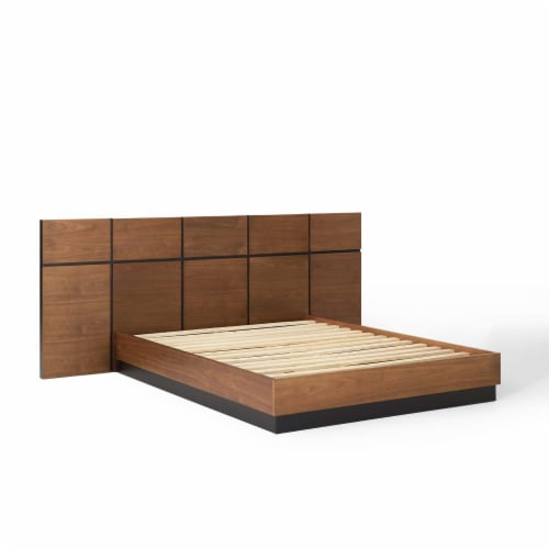 Caima 3 Piece Queen Bedroom Set Walnut Perspective: back