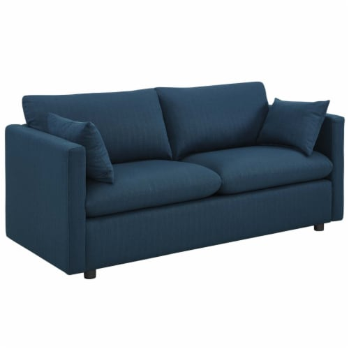 Activate Upholstered Fabric Sofa and Armchair Set Azure Perspective: back