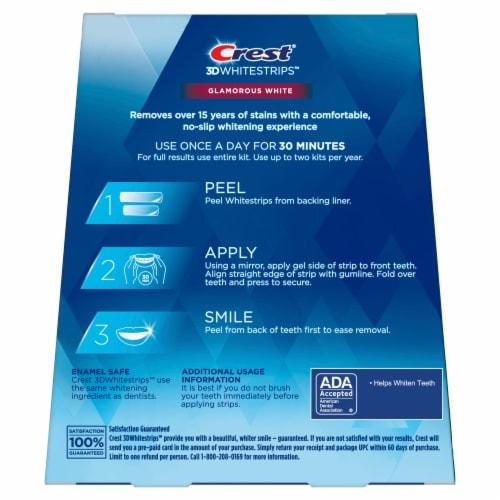 Crest 3D Whitestrips Glamorous White Teeth Whitening Kit 14 Treatments Perspective: back