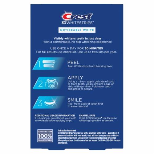 Crest® 3D White Strips™ Noticably White Dental Whitening Kit Perspective: back